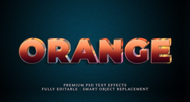 Orange text style effect psd , psd text effects Premium Psd
