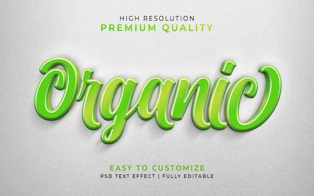 Organic 3d text style effect green mockup Premium Psd