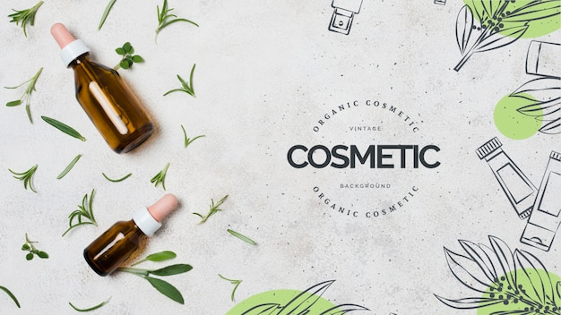 Organic cosmetic business template Free Psd