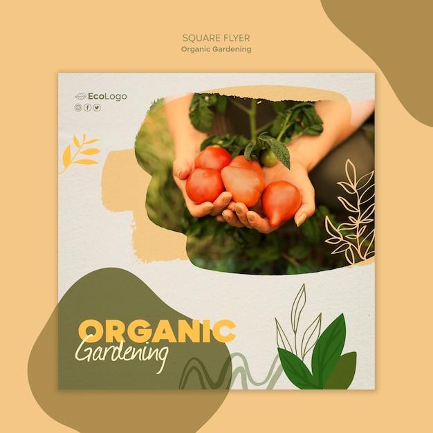 Органический садовый флаер Бесплатные Psd