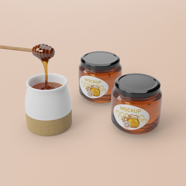 Organic honey product Free Psd