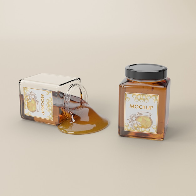 Organic honey product Free Psd