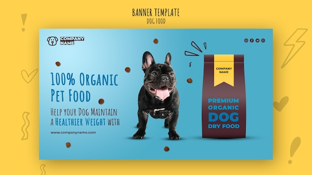 Organic pet food banner template Free Psd