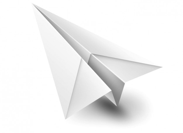 origami paperplane white toy psd psd file free download