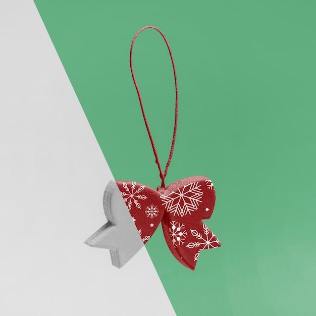 装飾用のクリスマスの弓のモックアップ 無料 Psd