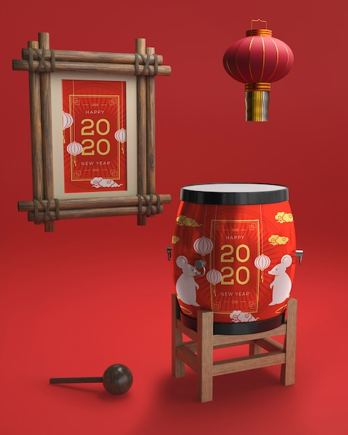 Ornaments for chinese new year Free Psd