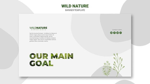 Our main goal banner template Free Psd
