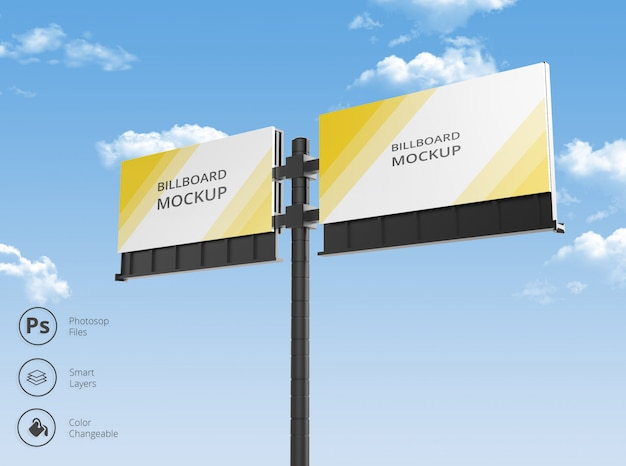 Outdoor billboard mockup Premium Psd