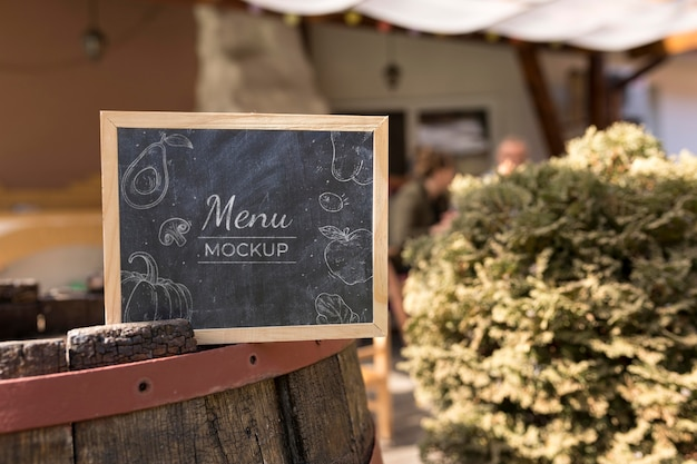 Outdoor food menu concept mock-up Free Psd