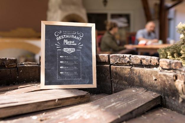 Outdoor food menu concept mock-up Free Psd