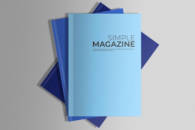 Пачка журналов макет Бесплатные Psd