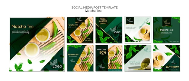 Pack of social media posts templates Free Psd