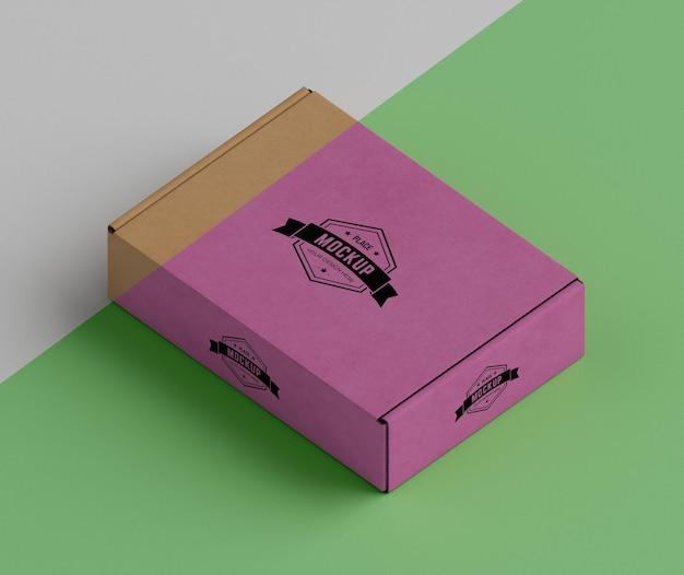 Макет концепции упаковочной коробки Бесплатные Psd