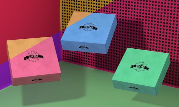포장 상자 모형 배치 무료 PSD 파일