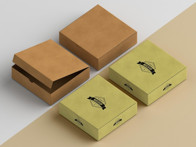 포장 상자 모형 프리미엄 PSD 파일