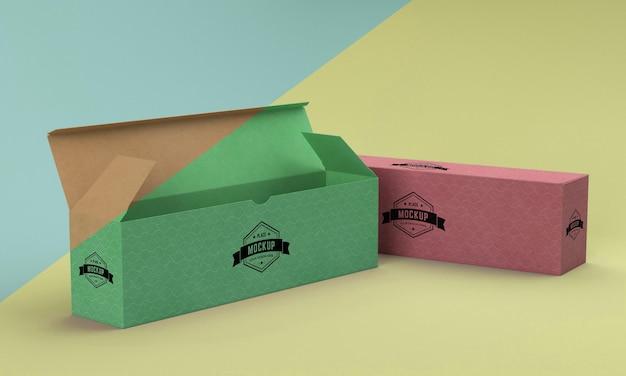 Макет упаковочной коробки Бесплатные Psd