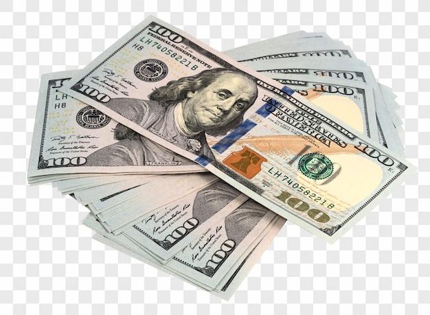 Packs of isolated dollars Premium Psd