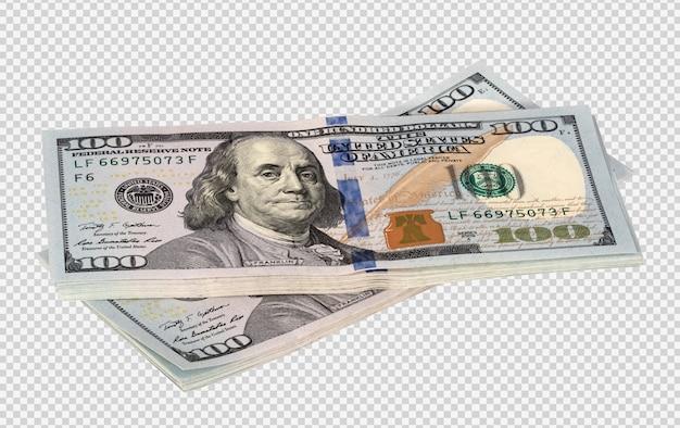 Пачки долларов изолированные Premium Psd