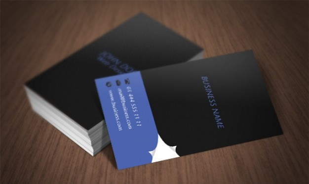 Page Curl Business Card Free Psd