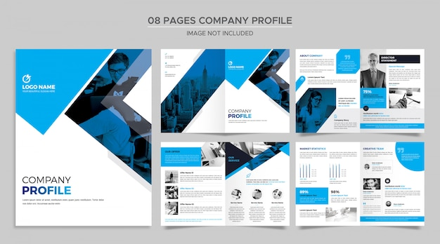 Pages company profile template Premium Psd