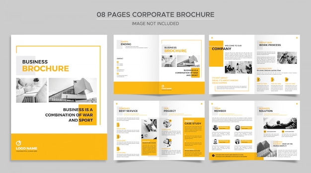 Pages corporate brochure template Premium Psd
