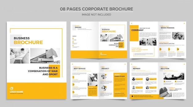 Pagesコーポレートパンフレットテンプレート Premium Psd