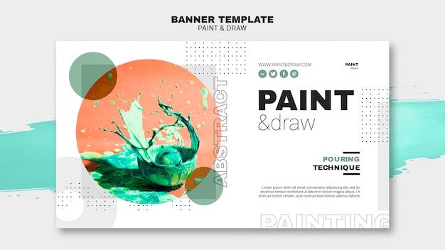 Paint concept banner template Premium Psd
