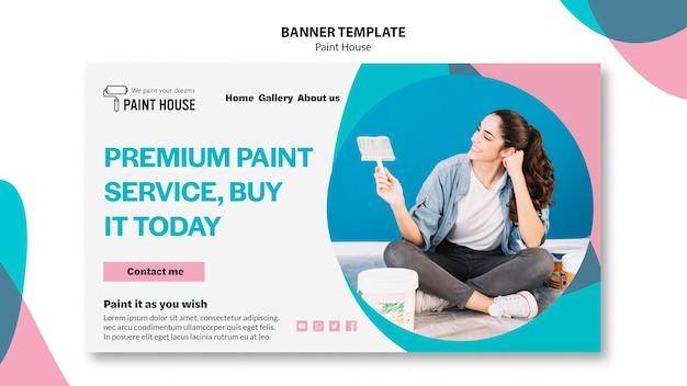 Modello della bandiera di concetto di casa di vernice Psd Gratuite