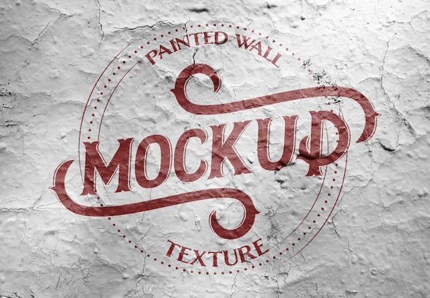 Painted grunge wall texture mockup Premium Psd