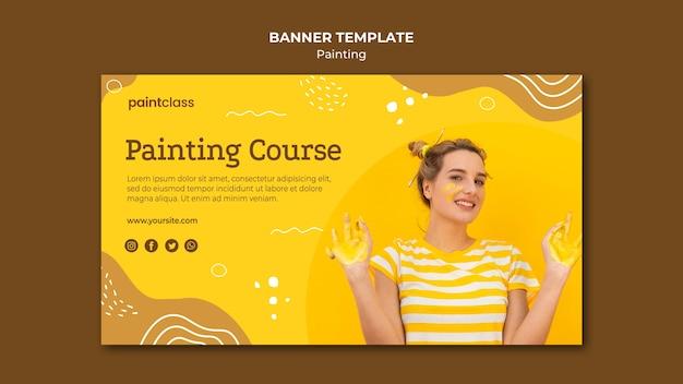Modello di banner concetto di pittura Psd Gratuite