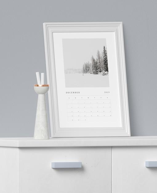 Концепция рисования для макета календаря Бесплатные Psd
