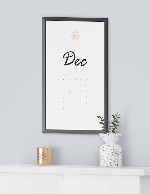 Картина рамки для календаря Бесплатные Psd