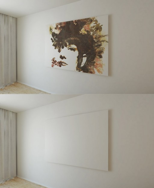 Painting On Wall Mock Up Psd File Free Download