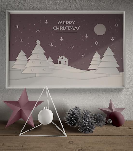 Dipingere con il tema del tema natalizio Psd Gratuite