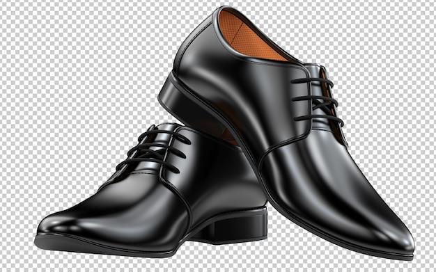 Pair of men's blac shoes black classic design Premium Psd