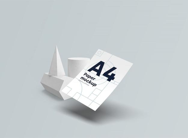 紙a4モックアップ重力psd 無料 Psd