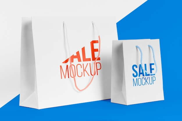 Concetto di sacchetto di carta con mock-up Psd Gratuite