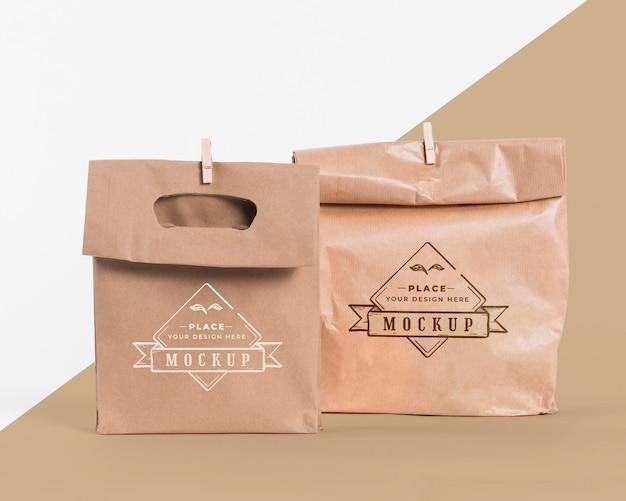 Concetto di sacchetto di carta con mock-up Psd Gratuite