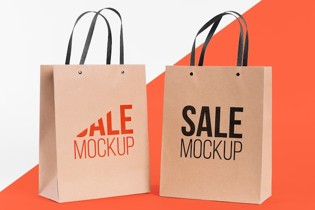 Paper bag concept with mock-up Free Psd