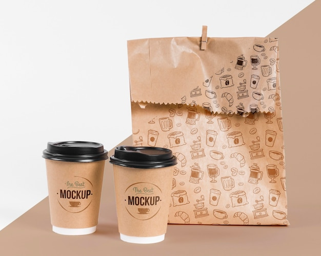 モックアップの紙袋のコンセプト 無料 Psd