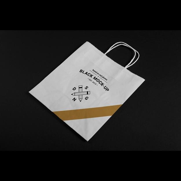 Paper bag mock up design Free Psd
