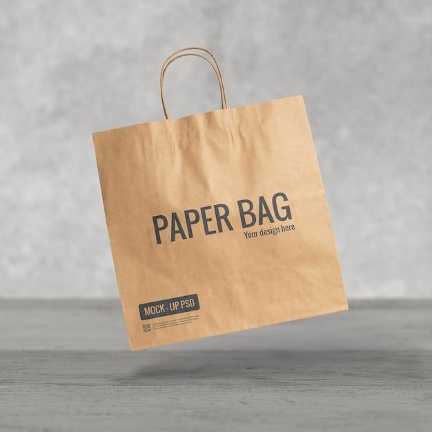Макет бумажного пакета Premium Psd