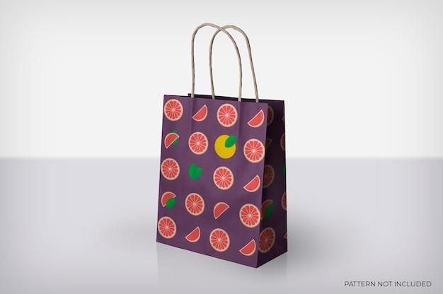 ストライプモックアップ付き紙袋 無料 Psd