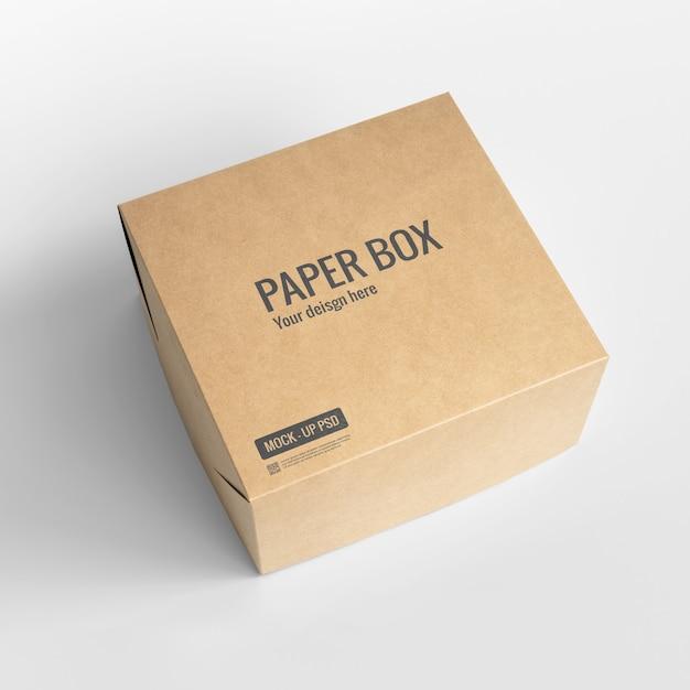 Макет бумажной коробки Бесплатные Psd
