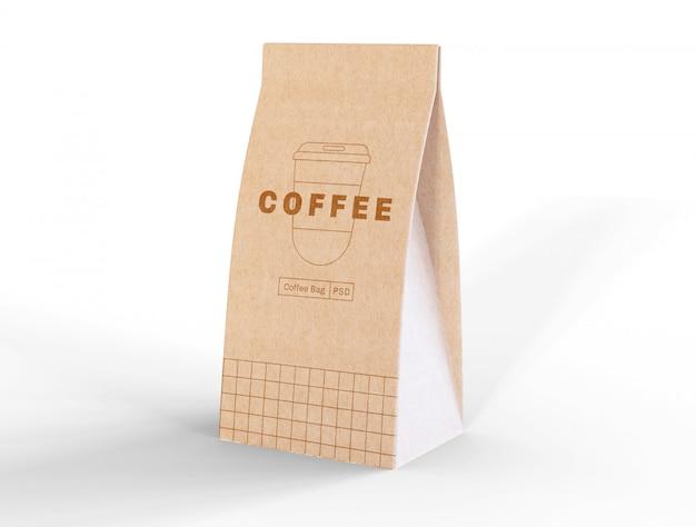 Бумажный кофейный пакет Бесплатные Psd
