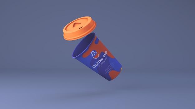 Paper coffee cup mockup psd Premium Psd