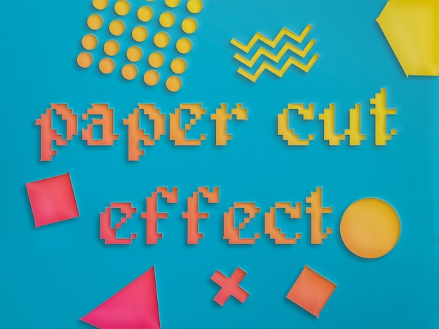 Paper cut-out effect layer style Free Psd