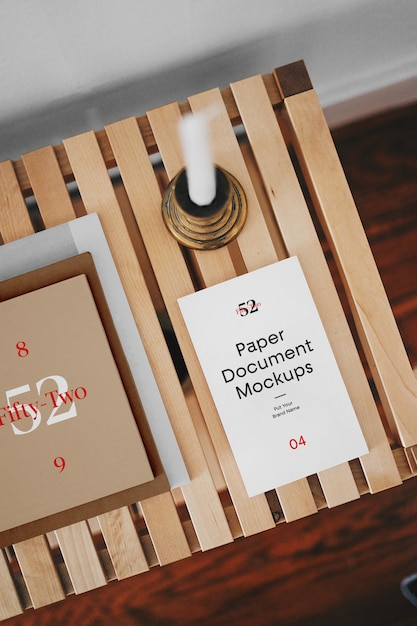 Paper document mockups Premium Psd