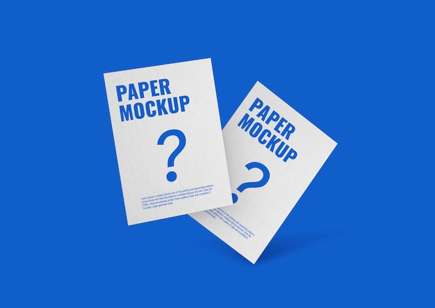 Paper flyer mockup Premium Psd