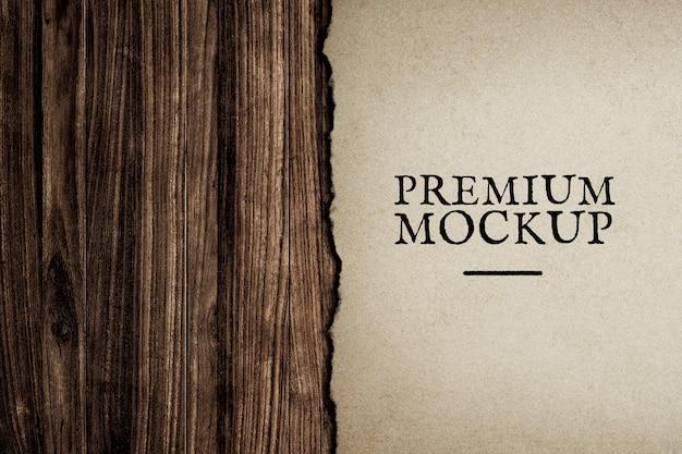 Paper mockup design background Free Psd